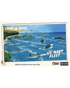 Cruel Seas US Navy Fleet with Ships, Aircraft, Cards & Markers
