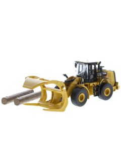 Diecast Masters 85635 Cat 950M Wheel Loader with Log Fork, Bucket & Logs