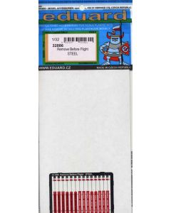 Eduard 32886 Steel Painted Remove Before Flight Tags for 1/32 Scale Aircraft