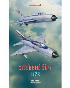 Eduard 2134 MiG21PF/PFM 'Dual Combo' 1/72 Scale Ltd Edition Plastic Kits