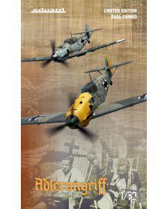 Eduard 2136 Bf109-E Adlerangriff 'Dual Combo' 1/72 Scale Ltd Edition Model Kits