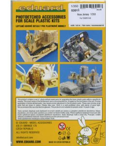 Eduard 53011 New Jersey Photo-Etched Detail Set for 1/350 Scale Tamiya Model Kit