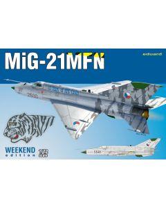 Eduard 7452 Czech MiG-21MFN 'Weekend Edition' 1/72 Scale Plastic Model Kit