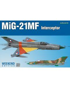 Eduard 7453 MiG2-1MF Interceptor 'Weekend Edition' 1/72 Scale Plastic Model Kit