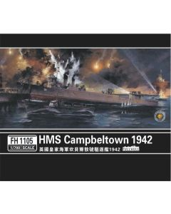 Flyhawk FH1105 British Destroyer Campbeltown 1942 1/700 Scale Plastic Model Kit