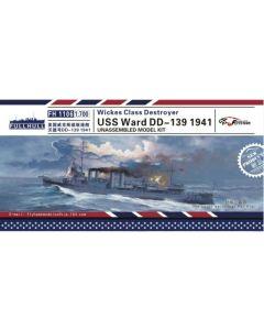 Flyhawk FH1106 US Destroyer Ward DD-139 1941 1/700 Scale Plastic Model Kit