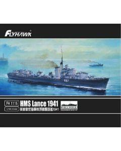 Flyhawk FH1115 British Destroyer Lance 1941 Full Hull Version 1/700 Scale Kit