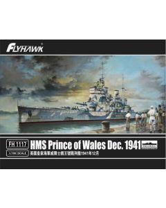 Flyhawk 1117 British Battleship Prince of Wales 1941 1/700 Scale Model Kit