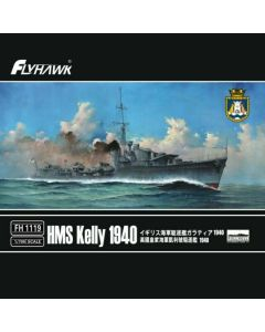 Flyhawk FH1119 British Destroyer Kelly 1940 1/700 Scale Plastic Model Kit