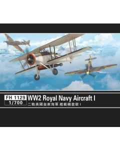 Flyhawk FH1129 WWII Royal Navy Aircraft for 1/700 Scale Model Ships Set #1