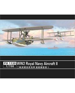 Flyhawk FH1130 WWII Royal Navy Aircraft for 1/700 Scale Model Ships Set #2