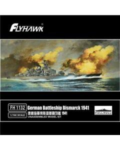 Flyhawk 1132 German Battleship Bismarck 1941 1/700 Scale Plastic Model Kit