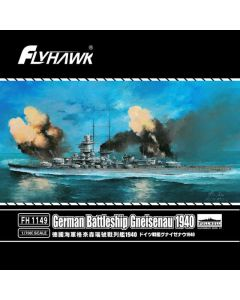 Flyhawk FH1149 German Battleship Gneisenau 1940 1/700 Scale Plastic Model Kit