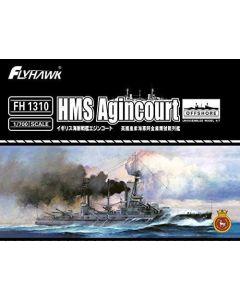 Flyhawk FH1310 British Battleship Agincourt 1/700 Scale Plastic Model Kit