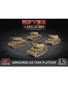 Battlefront GBX166 Armored AA Tank Platoon (4 Vehicles) Gaming Miniatures