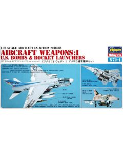 Hasegawa 35001 US Aircraft Weapons I 1/72 Scale US Bombs/Rocket Launchers