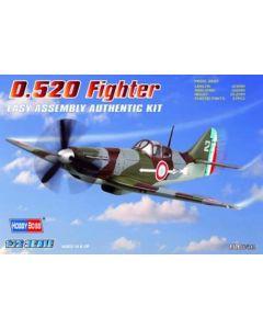 HobbyBoss 80237 Dewoitine D.520 1/72 Scale Plastic Model Kit