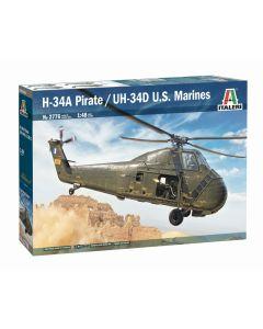 Italeri 2776 H-34A Pirate / UH-34D US Marine Corps 1/48 Scale Plastic Model Kit