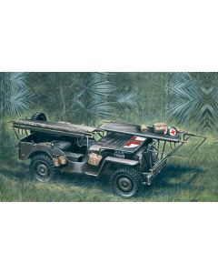 Italeri 326 Jeep Ambulance 1/4 Ton 4X4 1/35 Scale Plastic Model Kit