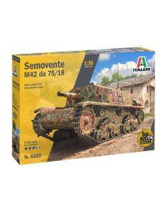 Italeri 6569 WWII Italian Semovente M42 da 75/18 1/35 Scale Plastic Model Kit