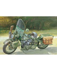 Italeri 7401 WLA 750 US Army WWII Motorcycle 1/9 Scale Plastic Model Kit