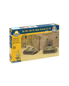 Italeri 7514 Panzer IV Ausf F1/F2 Set of Two 1/72 Scale Plastic Model Kits
