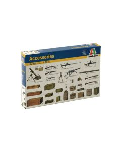 Italeri 0407 WWII Diorama Accessories 1/35 Scale Plastic Model Kit