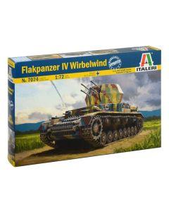 Italeri 7074 Flakpanzer IV 'Wirbelwind' 1/72 Scale Plastic Model Kit