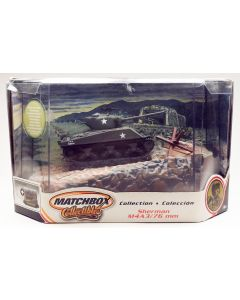 Matchbox Collectibles M4A3(76) Sherman Tank 1/72 Scale Diecast Model & Diorama