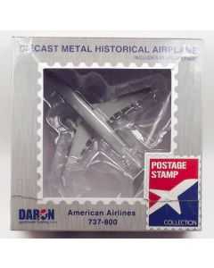 Postage Stamp 58152 American Airlines 737-800 1/300 Scale Model Needs Repairs