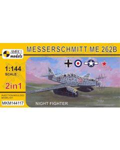 Mark I Models 144117 Me262B Night Fighter (2 in 1) 1/144 Scale Plastic Model Kit