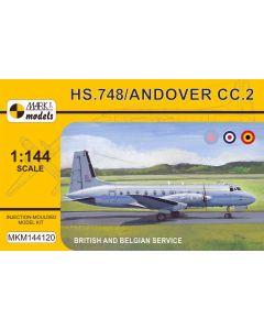 Mark I Models 144120 British/Belgian HS748/Andover CC2 1/144 Scale Model Kit
