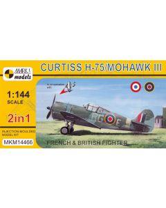 Mark I Models 14466 Curtiss H75/Mohawk Mk III Set of 2 1/144 Scale Model Kits