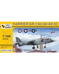 Mark I Models 14486 Harrier GR1/AV-8A/AV-8C 1/144 Scale Plastic Model Kit