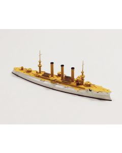Navis 333 US Armored Cruiser Brooklyn White/Gold 1/1250 Scale Model Ship