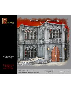 Pegasus 4923 Large Gothic City Building 28 mm Scale Model Kit