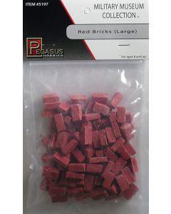 Pegasus 5197 Large Red Bricks for Dioramas