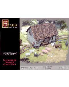 Pegasus 7052 Farm Animals 1/72 Scale Figures for Dioramas