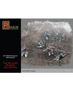 Pegasus 7199 WWI French Army 1/72 Scale Plastic Model Figures