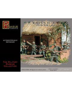 Pegasus 7201 WWII German Waffen SS Kursk 1943 1/72 Scale Plastic Figures