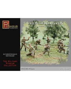 Pegasus 7268 WWII Russian Infantry Summer Uniforms 1/72 Scale Plastic Figures