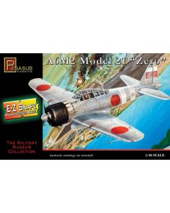 Pegasus 8409 WWII Japanese A9M2 Zero 1/48 Scale Snap-Together Plastic Model Kit