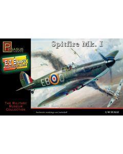 Pegasus 8410 WWII British Spitfire Mk.I 1/48 Scale Snap-Together Model Kit