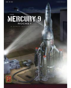 Pegasus 9103 Mercury 9 Rocket Kit 1/350 Scale Plastic Model Kit