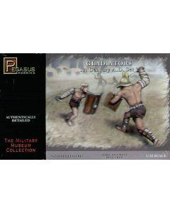 Pegasus 3201 Gladiators 1st Century AD Set #1 1/32 Scale Plastic Model Figures
