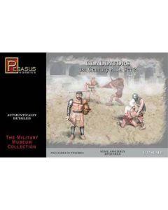 Pegasus 3202 Gladiators 1st Century AD Set #2 1/32 Scale Plastic Model Figures
