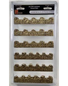 Pegasus 5207 Sandbags Assembled & Finished Straight Sections 28 mm Scale