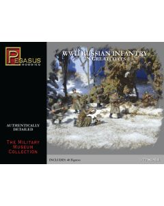 Pegasus 7271 WWII Russian Infantry Greatcoats 1/72 Scale Plastic Model Figures