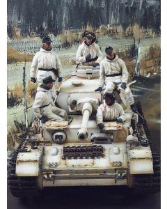 Military Diorama Background 'Dark Winter Day' Hand-Painted Original