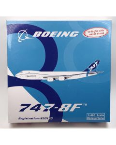 Phoenix 10553 Boeing 747-8F House Colors 'N5017Q' 1/400 Scale Model with Stand